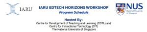 banner for IARU Edtech Horizons workshop Singapore