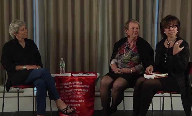 L to R: Lucy Suchman, Katherine Gibson, and Anne Balsamo, October 1, 2013, New York City